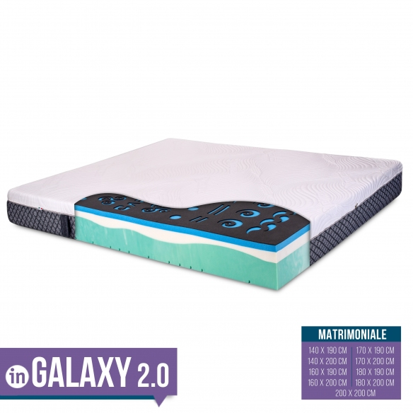 GALAXI - Materasso CARBON con MEMORY BREEZE GEL