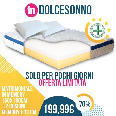 Vendita materassi online, reti e cuscini | made in Italy ...